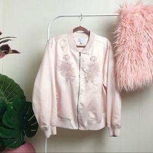 NWOT >> Boutique + Pink Bomber jacket >> 2X
